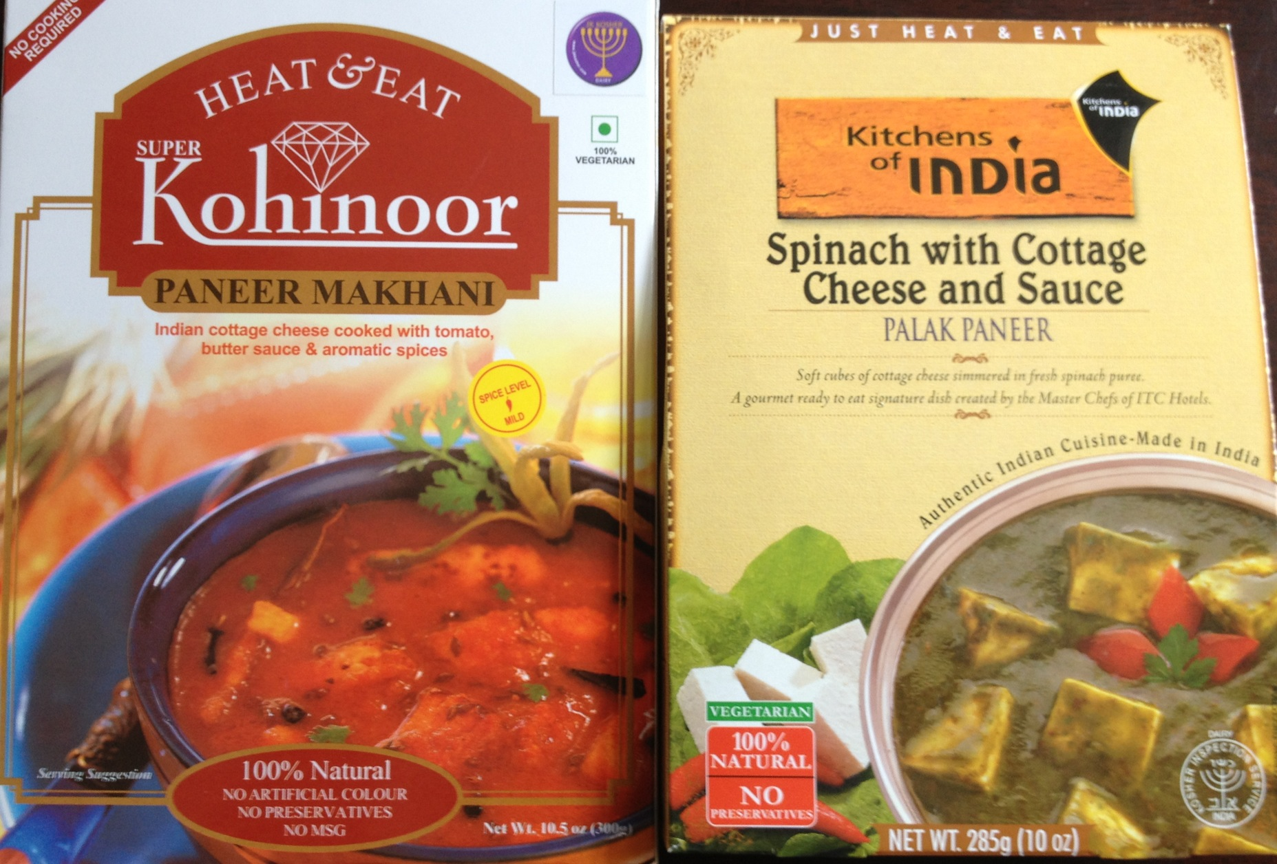 Indian packaged meals
