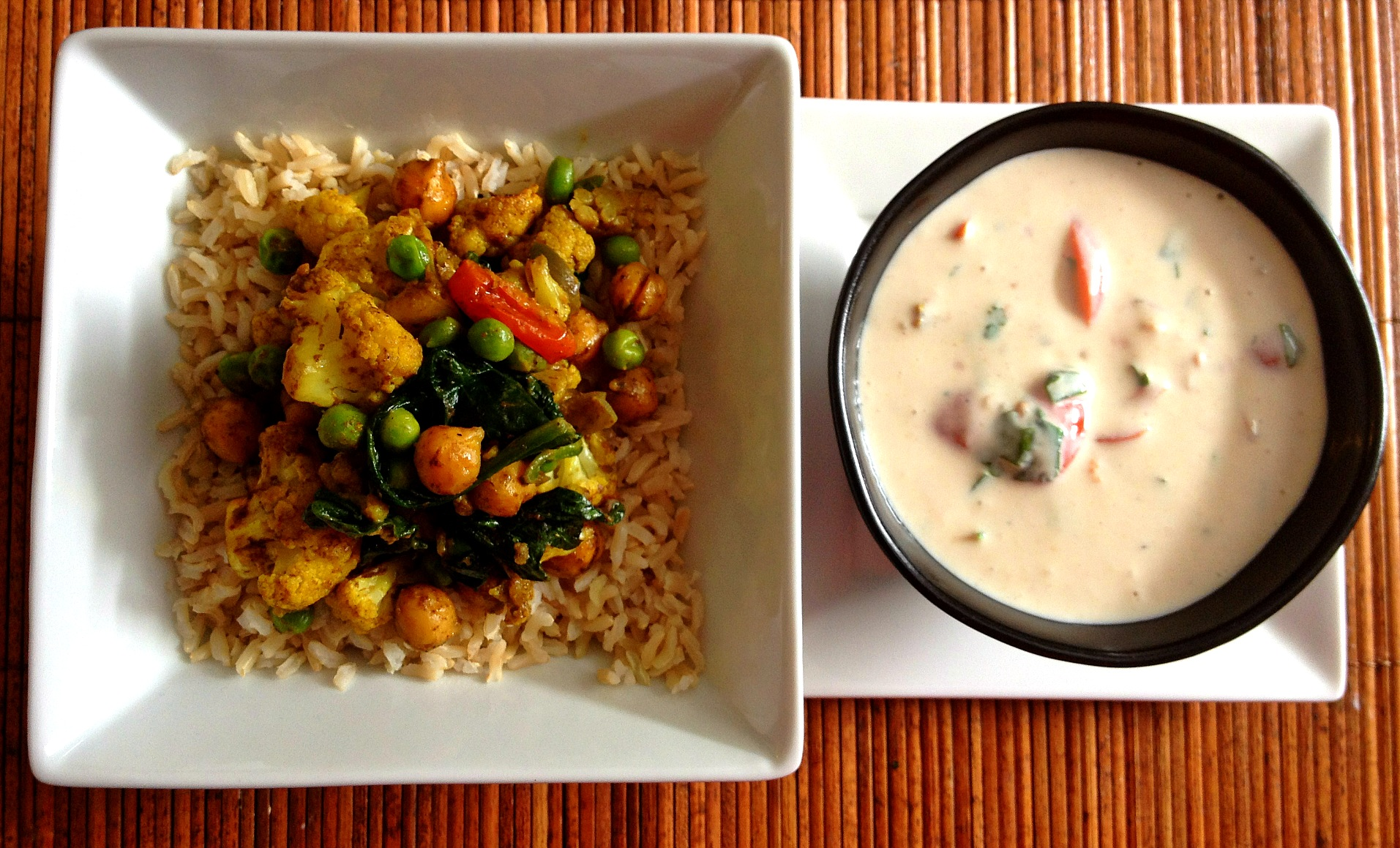 Indian Rice Bowl with Tomato Raita