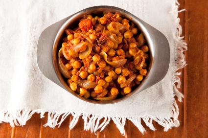 Chick peas curry (chana masala)