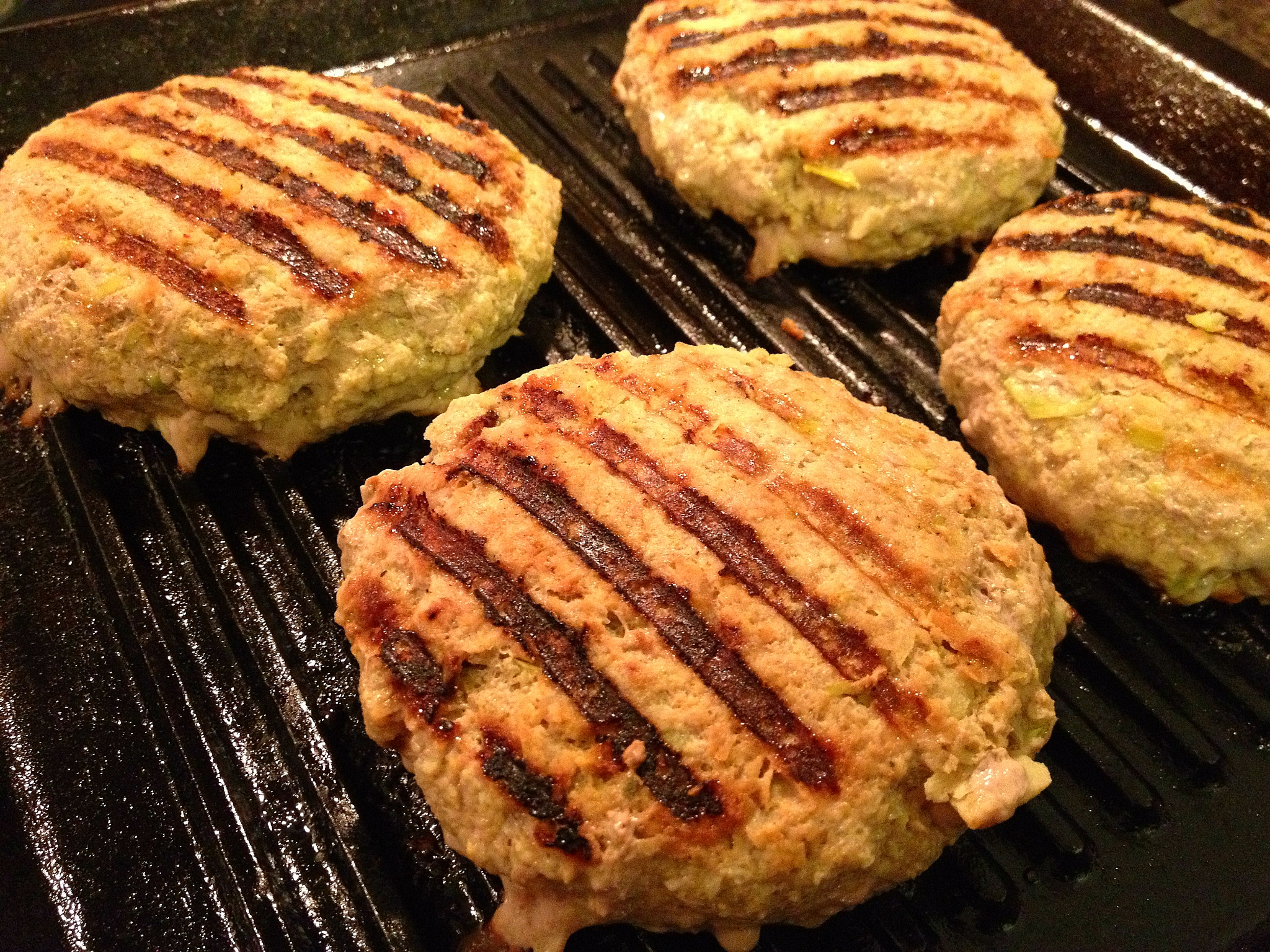 Grilling curried turkey burgers