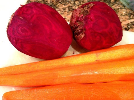 Two large beets and three carrots are all you need