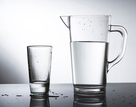 Eat healthy by drinking a lot of water