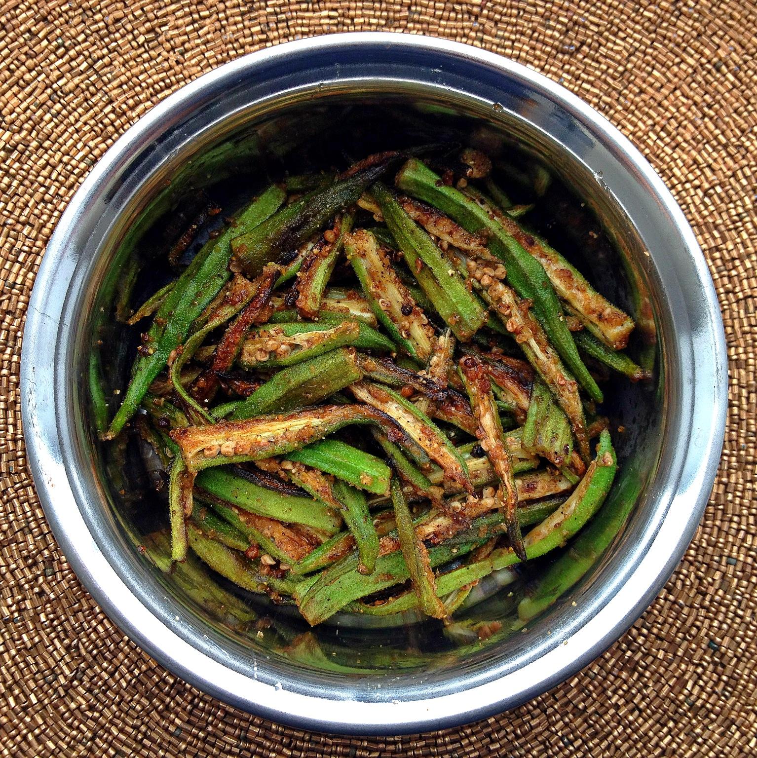 Indian okra dish