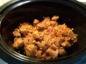 Transferring Shammi Kebabs mixture into a slow cooker